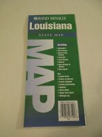 1998 Rand McNally Louisiana State Highway Travel Road Map~Green Box B