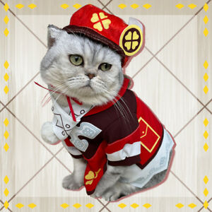 Game Genshin Impact Klee Cosplay Costumes Pet Clothes Dog dress up Props