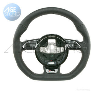 OEM Audi RS6 A6 67 Quattro C7 4G Flat Bottom Steering Wheel # 4G8419091AFNOQ