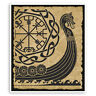 2 x 10cm Viking Longship Vinyl Stickers - Ship Tribal Luggage Sticker #31721