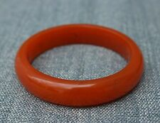 62mm Chinese Yun Nan 100% Southern red agate Hand-carved Bracelet Bangle