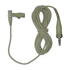 Micrófono Lavalier Solapa Clip De Corbata Beige 3.5 Mm Tornillo Conector Jack para Sennheiser