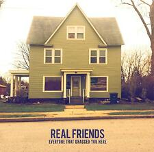 REAL FRIENDS Everyone That Dragged You Here - FROSTED CLEAR VINYL EP - Brand New