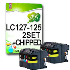 8 XL CHIPPED Ink Cartridge For LC127 LC125 MFC-J4510DW MFC-J4610DW MFC-J4710DW