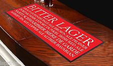 BEER BUSBLIND RED BAR RUNNER IDEAL FOR HOME COCKTAIL PARTY BAR MAT PUB DECOR