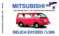 JPNZ Mitsubishi Delica exceed / L300 1989-1994 English Owner Handbook