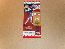 RED SOX UNUSED WORLD SERIES TICKET 2007 GAME #6  EXCELLENT / NEAR MINT CONDITION