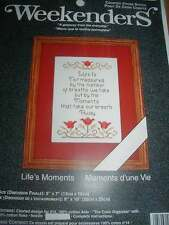 Weekenders LIFE'S MOMENTS  Counted Cross Stitch Kit - NEW