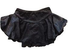 Chloe Noel CM Black Shimmery Skating Gymnastics Dance Skirt