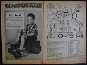 IRISH MAIL Wagon PUMP CAR 1952 How-To build PLANS RIDE-ON TOY