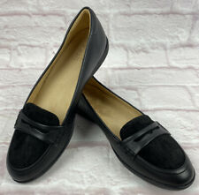 Naturalizer Womens Finley Loafer 9M Flats Black Leather Shoe Comfort Slip On NEW