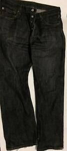 Mens blue faded wash Levi 501Red Tab boot cut classic 5 button jeans
