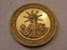 Medaille Bronze golden 1895 Maatschappij TER Bevordering van Nijverheid Gent
