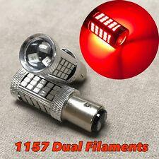 2x 1157 63SMD 7528 RED LED Bulb Car Truck Brake Stop Light For Chrysler Jeep
