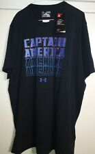 Under Armour Ua Captain America Marvel Black T Shirt Xl Men's New with tags