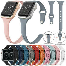 Thin Sport Band Silicone For Apple Watch Series 5 4 3 2 1 38mm 42mm 40mm 44mm