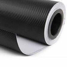 "12""x50"" 3D Black Carbon Fiber Vinyl Car Wrap Sheet Roll Film Sticker#24"