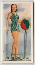 Annette Kellermann Invented The First One Piece Bathing Suit 75+ Y/O Trade Card