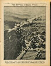Torpille Torpedo Sous-Marins Submarine Cruiser Boat Marine Nationale 1917 WWI