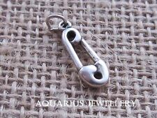 NAPPY PIN STERLING SILVER CHARM   FREE GIFT BOX