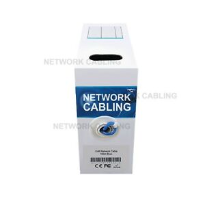 Cat6 100M UTP Ethernet Cable Roll Data Networking LAN cable Box solid core