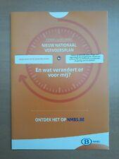 NMBS (SNCB) - brochure nieuw nationaal vervoerplan 14 december 2014