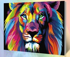 Diy Oil Painting Paint by Number Kit for Adult 16 20-Inch (Lion) 50cm x 40cm