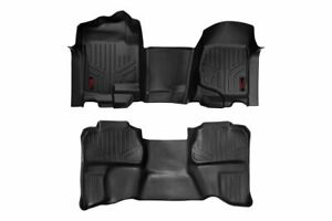 Rough Country Floor Liners (fits) 07-13 Silverado Sierra | Double Cab Bench |Set