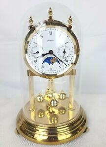 Vintage Kundo Day Date Quartz Anniversary Clock Made in Germany