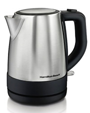 Stainless Electric Kitchen Kettle Pot Hot Water Tea Quick Boil Hamilton Beach 1L