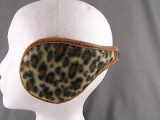Black Brown cheetah leopard big cat print ear muffs warmers behind hair