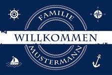 Fußmatte Meer & Seemann Anker Individuell personalisiert Hamburg Hafen Moin