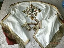 ANCIENNE VOILE HUMERALE/BRODERIE/FIL OR/Casula/XXéme/no aube/NO CHASUBLE/N°1