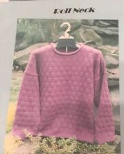 Sarah James WS120 Roll Neck Pullover Sweater Knitting Pattern