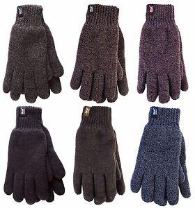 Heat Holders  - Men's Warm Heat Weaver Knitted Thermal Winter Gloves 6 Colours