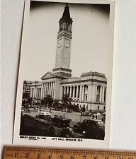 Vintage Photo Postcard Sidues Series No 1026 City Hall  Brisbane  QLD