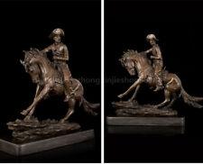 Western Art Deco Sculpture horsebreaker Ride Horse Cowboy Figurine