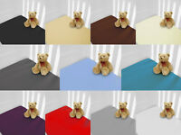 Percale Quality Pack of 2 (Two) Cot Bed Fitted Sheets Available in 12 Colours