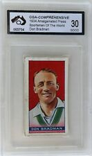 1934 Amalgamated Press Don Bradman Card Graded GOOD