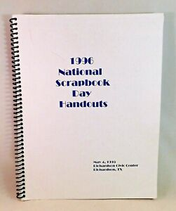 1996 National Scrapbook Day Handouts Design and Layout Ideas Softcover