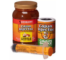 Thanksgiving Turkey Creole Butter Injector keeps flavor in meat Cajun Fat Free