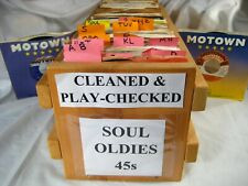 45 rpm vinyl records Soul Jukebox Motown + You Select Cleaned & Plays Vg+ Nm-