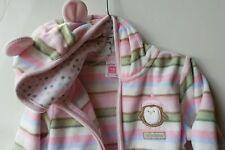 Carter's Toddler Girl 18 Mos Pink Sport fleece Warm Up Suit Active Wear 2Pc EUC