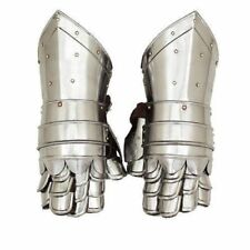 Medieval Gauntlets Armor Metal Plate Pair Gloves Knight Reenactment