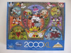 Disney Minnie And Mickey Mouse 2000 Piece Jigsaw Puzzle NIB