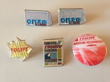 LOT PINS - BADGE FOOTBALL - L'EQUIPE - ONZE MONDIAL