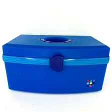 Vintage Caboodles Make Up Carrying Case 2770 Cosmetics Storage Organizer Blue