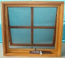 AWNING WINDOWS, SOLID CEDAR TIMBER, COLONIAL, CED01 730W X 680H, FLY SCREEN