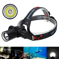 Scuba Underwater 100m 6000LM XM-L T6 LED Diving Headlight Flashlight Torch 18650