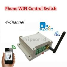 Ac 110-230V Wireless Wifi Switch Relay Module 4-Channel Phone App Remote Control